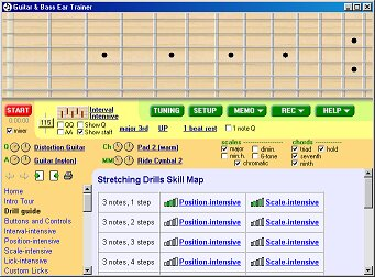Click to view Guitar and Bass Ear Trainer 1.5 screenshot